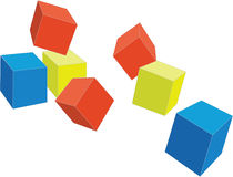 Cubes 4. Cubes set in color 04 stock illustration