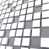 Cubes. Group of cubes of white color on gray background Royalty Free Stock Images