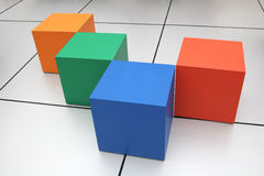 Cubes. Color cubes Royalty Free Stock Photo