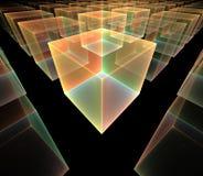 Cubes. Fractal rendering of transparent cubes Stock Images