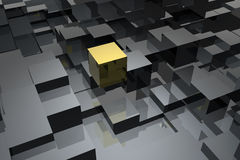 Cubes abstract. Unique abstract background with cubes stock illustration