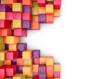 Cubes abstract background Royalty Free Stock Images