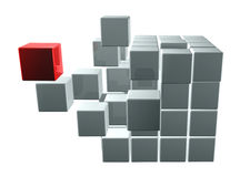 Cubes. Abstract background. 3d Stock Photos