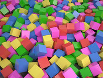 Cubes abstract background, 3D. Colored cubes abstract background, 3D rendering image Stock Photography