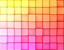 Cubes abstract background gradient. Abstract gradient background made of cubes. 3d illustration Stock Photos