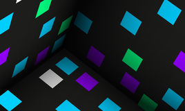 Cubes abstract background illustr Stock Images