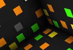 Cubes abstract background illustr Royalty Free Stock Image