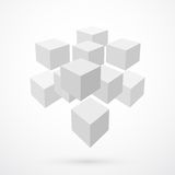 Cubes, abstract background Stock Image
