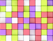 Cubes abstract background random color Royalty Free Stock Photo