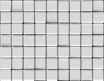 Cubes abstract background silver Royalty Free Stock Photo