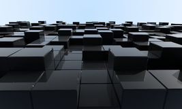 Cubes. Abstract geometric shapes from cubes - 3d render Stock Images