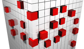 Cubes abstraits Photographie stock libre de droits