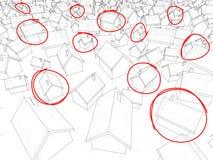 Cubes abstraits Images libres de droits