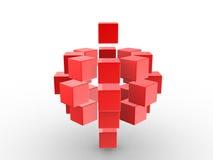 Cubes abstraits dans une ligne - 3d rendent. Photographie stock libre de droits
