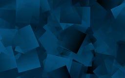 cubes abstraits en bleu de fond Images stock