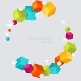 Cubes abstraits en couleur Photos libres de droits