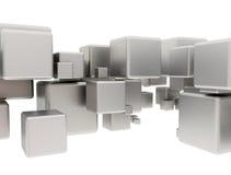 Cubes abstraits en métal illustration stock