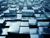Cubes abstraits en métal Photos libres de droits