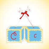 Cubes alphabet C Royalty Free Stock Images