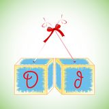 Cubes alphabet D Stock Image