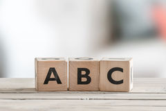 Cubes with alphabet letters Royalty Free Stock Image