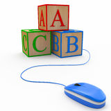 Cubes alphabet (online education concept) Royalty Free Stock Image