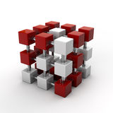 Cubes array Royalty Free Stock Photo