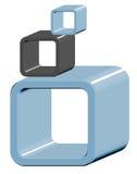 Cubes art Stock Photos