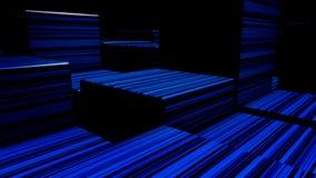 Cubes au n?on lumineux en r?sum? Fond de cubes en lampes au n?on Cubes color?s illustration libre de droits