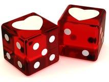 Cubes avec des coeurs. Amour Image stock
