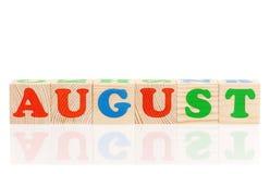 Cubes avec des lettres Photo libre de droits