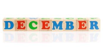 Cubes avec des lettres Images stock