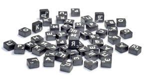 Cubes avec des lettres Photos libres de droits