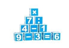 Cubes avec des numéros Photographie stock libre de droits
