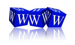 Cubes avec l'inscription WWW Photo stock