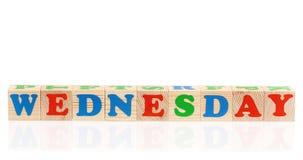 Cubes avec le jour de la semaine Photos libres de droits
