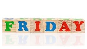 Cubes avec le jour de la semaine Image stock