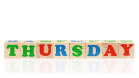 Cubes avec le jour de la semaine Images libres de droits