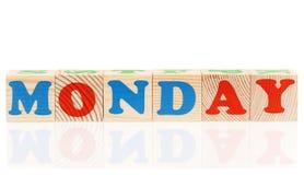 Cubes avec le jour de la semaine Photographie stock libre de droits