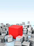 Cubes background Royalty Free Stock Image
