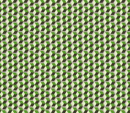 Cubes background. Background with seamless pattern of cubes in black, green and white Royalty Free Stock Images
