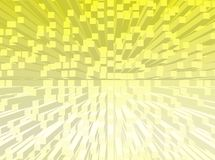 Cubes background. An abstract background with cubes and yellow colour royalty free illustration
