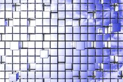 Cubes background. Abstract perspective cubic space available for background Stock Image