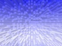 Cubes background. An abstract background with cubes and blue color royalty free illustration