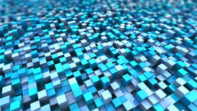 Cubes background. Abstract 3d illustration of blue cubes background Royalty Free Stock Image