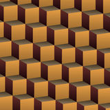 Cubes Background. Brown 3D Abstract Cubic Seamless Background Design Template in Editable Vector Format Royalty Free Stock Photography
