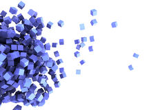 Cubes background. 3d illustration of abstract cubes background Stock Image