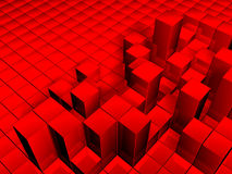 Cubes background. 3D illustration of red cubes background royalty free illustration