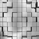 Cubes background. 3d render image Stock Photo