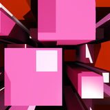 Cubes Background Showing Virtual Poster Stock Photos
